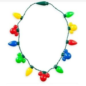 NWT Disney Mickey Mouse Holiday Lights Up Necklace